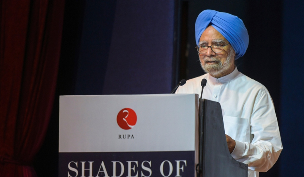 Former prime minister Manmohan Singh speaks during the launch of Congress leader Kapil Sibal's book 'Shades of Truth', in New Delhi | PTI