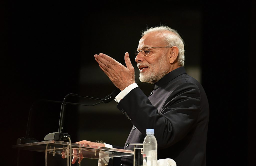 Tokyo: Prime Minister Narendra Modi addresses the Indian diaspora at an event, in Tokyo, Monday, Oct 29, 2018. (PIB Photo via PTI)(PTI10_29_2018_000024)