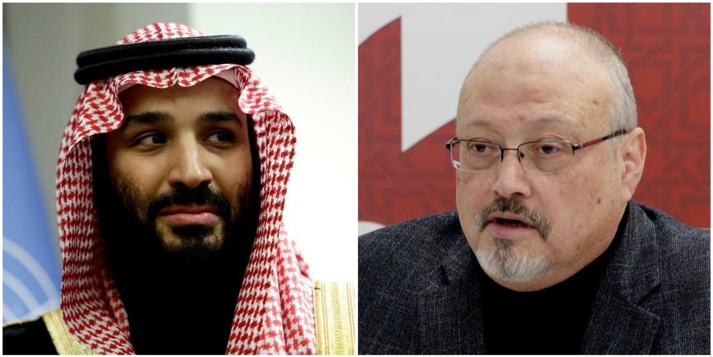 सऊदी अरब के शहज़ादे मोहम्मद बिन सलमान और पत्रकार जमाल ख़शोगी. (फोटो रॉयटर्स/विकिपीडिया)