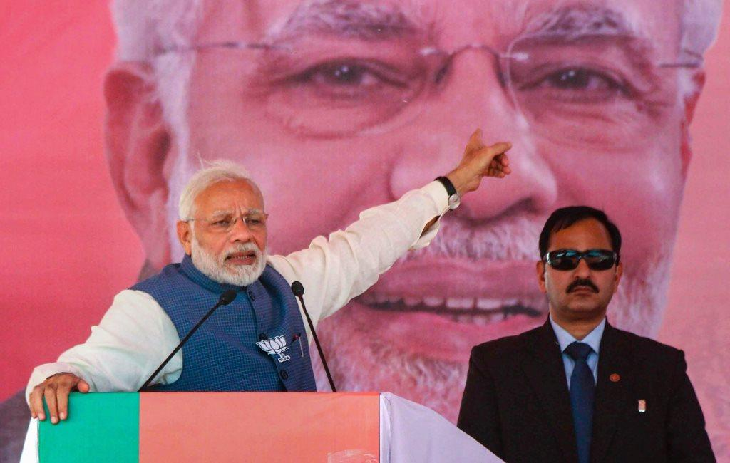 Shahdol: Prime Minister Narendra Modi addresses a public meeting ahead of Madhya Pradesh Assembly election, in Shahdol, Friday, Nov. 16, 2018. (PTI Photo) (PTI11_16_2018_000104)