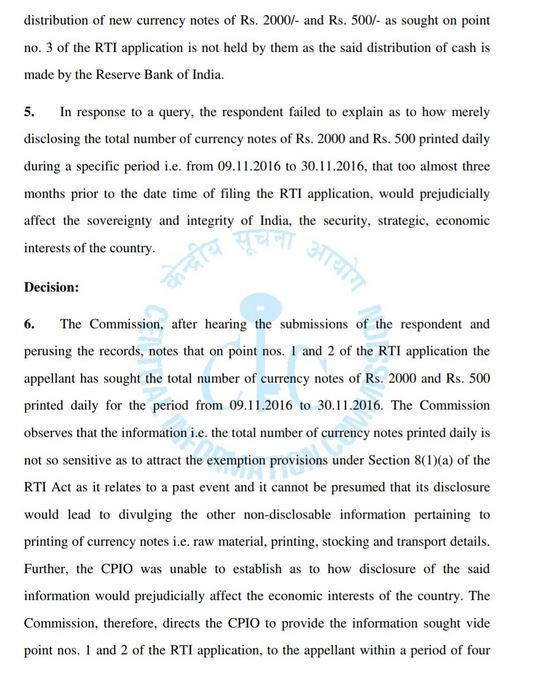 CIC Note ban