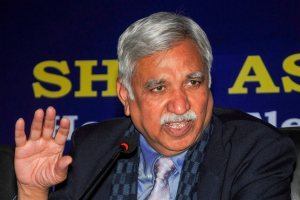 Ranchi: Chief Election Commissioner Sunil Arora after a review meeting with Jharkhand police officers and deputy commissioners to review the preparations for the upcoming Lok Sabha elections, in Ranchi, Wednesday, Jan. 30, 2019. (PTI Photo)(PTI1_30_2019_000125B)