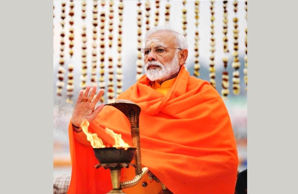 Narendra Modi Ganga Kumbh Insta Namo
