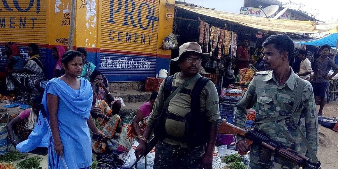 Police-at-Bhairamgarh-Bela Bhatia