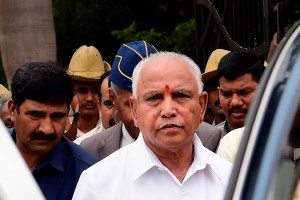 Bengaluru: BJP Karnataka President and Chief Minister-designate BS Yeddyurappa leaves after paying tribute to Kargil war martyrs on the 20th anniversary of Kargil Vijay Diwas, in Bengaluru, Friday, July 26, 2019. (PTI Photo/Shailendra Bhojak) (PTI7_26_2019_000094B)