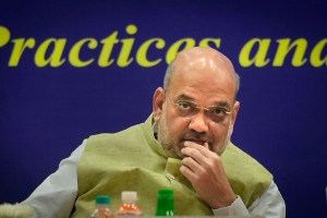 New Delhi: Home Minister Amit Shah speaks during the 49th Foundation Day celebrations of Bureau of Police Research and Development (BPR&D) at its headquarters in New Delhi, Wednesday, Aug 28, 2019. (PTI Photo/Vijay Verma)(PTI8_28_2019_000022B)