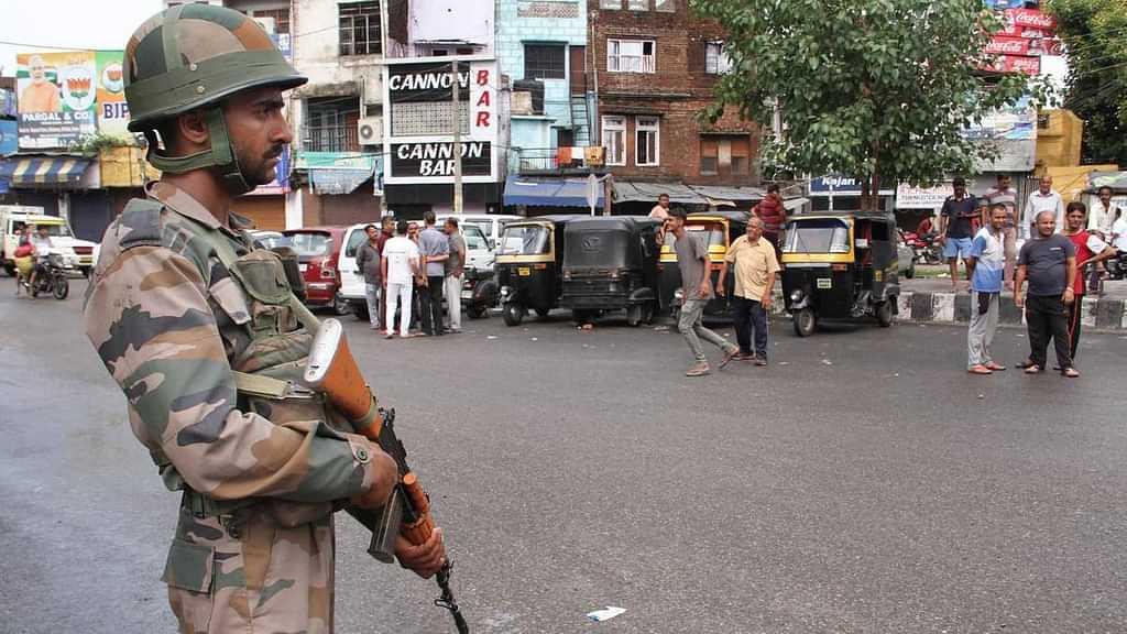 Kashmir Security Personnel PTI
