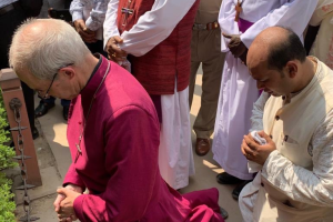 Archbishop of Canterbury Justin Welby at the Jallinwala Bagh Memorial. Photo Twitter