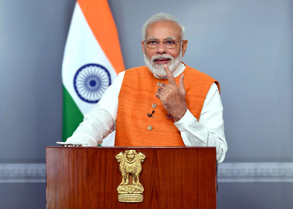 The Prime Minister, Shri Narendra Modi addressing the Malayala Manorama News Conclave 2019 in Kochi via video conferencing, in New Delhi on August 30, 2019.