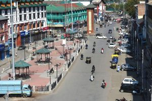 A view of Srinagar's Lal Chowk on Wednesday October 9th 2019. Photo: PTI