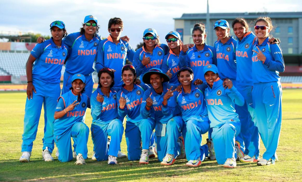 FILE PHOTO: Cricket - Australia vs India - Women's Cricket World Cup Semi Final - Derby, Britain - July 20, 2017 India celebrate winning their semi final against Australia Action Images via Reuters/Jason Cairnduff/File photo