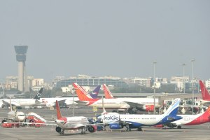 Mumbai: Aeroplanes on runway as all the domestic and international flights were cancelled after lockdown following the coronavirus pandemic in Mumbai, Tuesday, March 24, 2020. (PTI Photo/Mitesh Bhuvad)(PTI24-03-2020 000101B)
