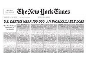 अमेरिका के द न्यूयॉर्क टाइम्स का रविवार को प्रकाशित अंक.