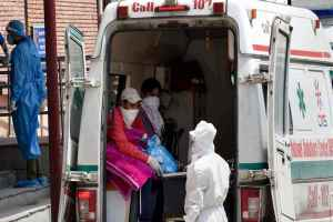 New Delhi: Suspected COVID-19 patients arrive at LNJP hospital, during the ongoing nationwide lockdown, in New Delhi, Saturday, June 20, 2020. (PTI Photo/Kamal Singh)(PTI20-06-2020 000092B)