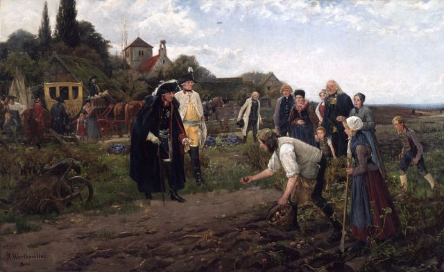 Frederick The Great Inspecting the Potato Harvest - R Warthmuller