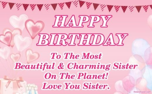 beautiful-happy-birthday-wishing-messages-images-for-my-best-sister-with-pink-wallpapers-free-download