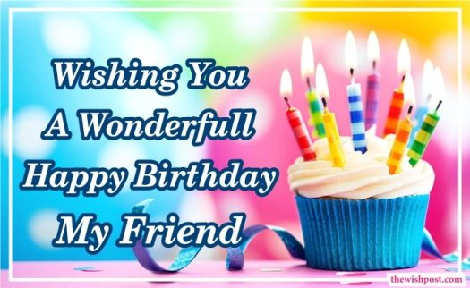 wonderful-happy-birthday-my-friend-wishing-with-cupcake-greeting-cards-images-pics-wishes-wallpapers-free-download
