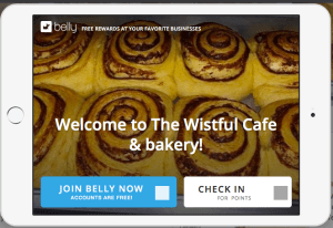 Sign up the Belly Card at the Wistful Cafe