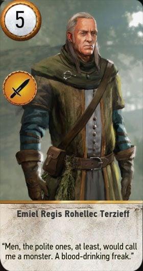 Emiel Regis Rohellec Terzieff Gwent Card  The Witcher 3