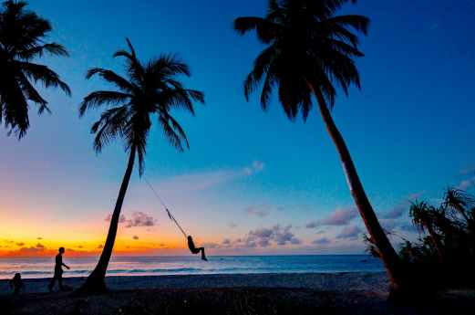 photo of beach during dawn
