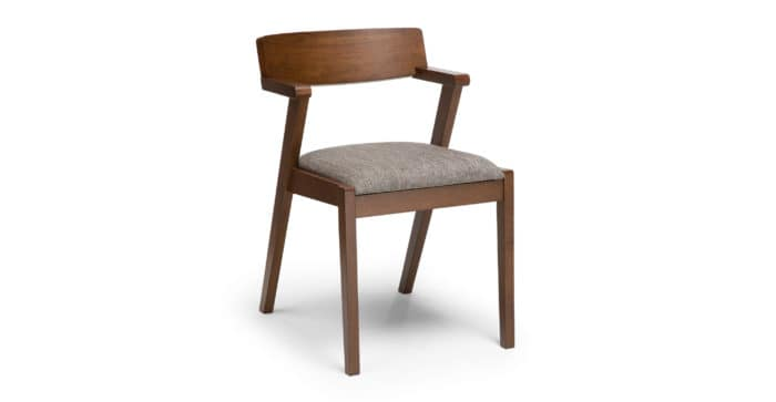 Image of mid century modern wood dining chair