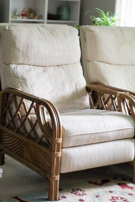 Image showing diy mistake rattan recliner chairs