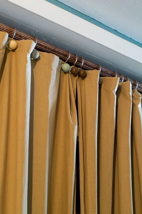 Image showing diy mistake shower curtains used as closet doors