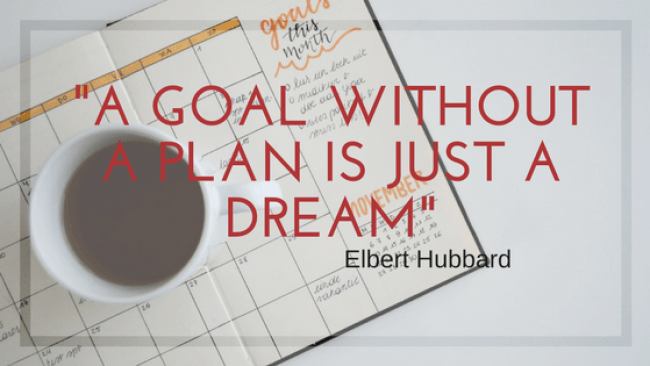"""Graphic with quote: """"A goal without a plan is just a dream"""""""