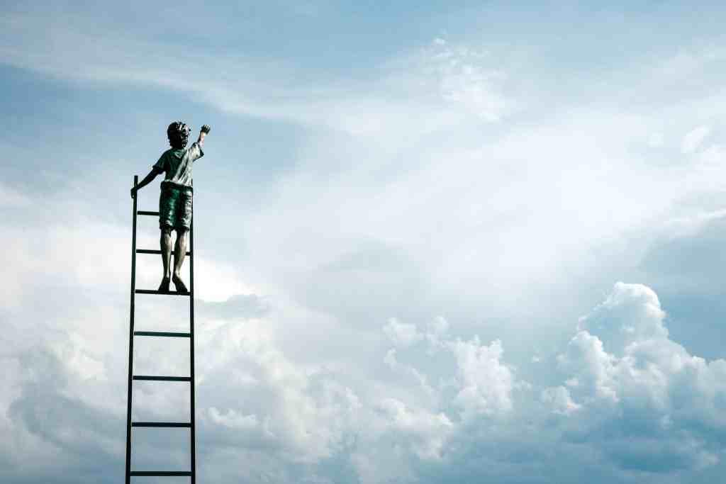 boy on a ladder