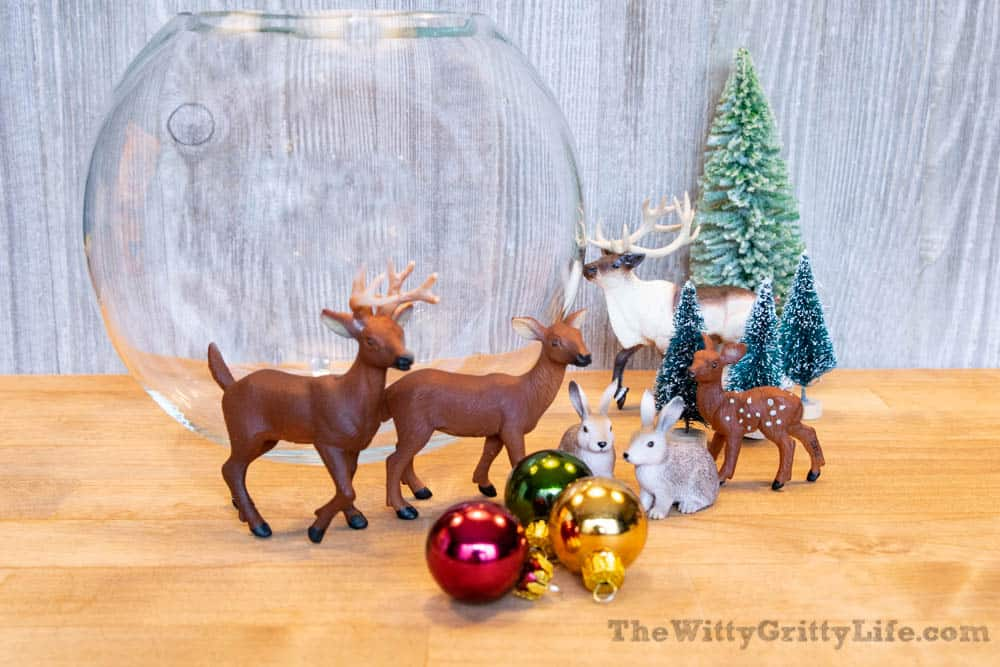 decorations for easy christmas snow globe