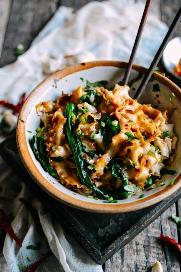 15-Minute Hot Oil Noodles (You Po Mian), by thewoksoflife.com