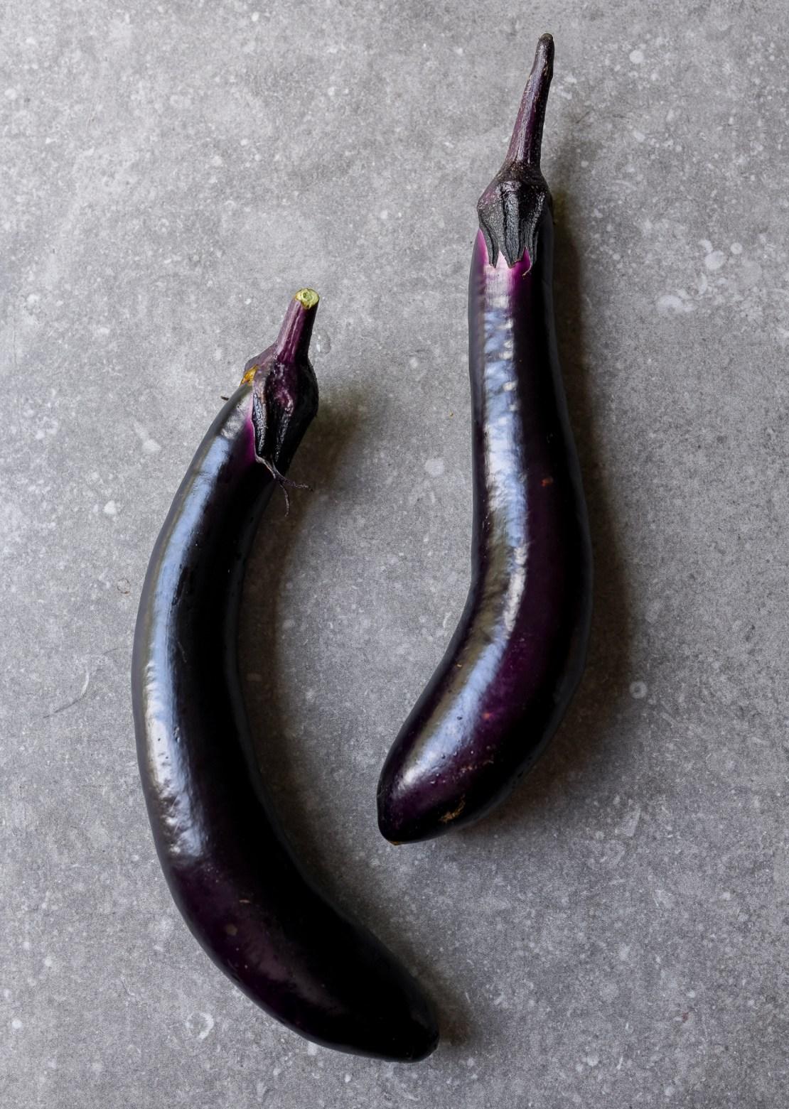 Homegrown Japanese eggplants