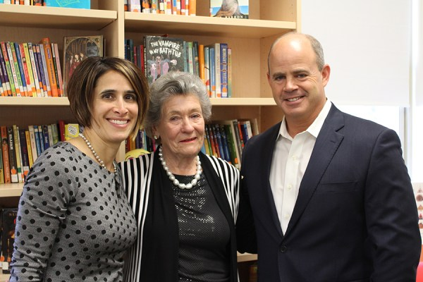 Anna Johnson with Liz Chace and Malcolm G. Chace, Jr.
