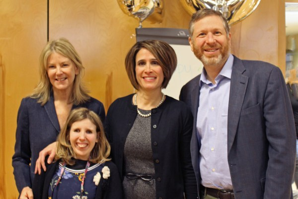 Anna Johnson with Mark, Katherine, and Sarah Pelson.