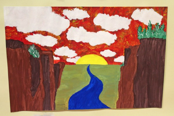 A landscape scene from a Room 8 student