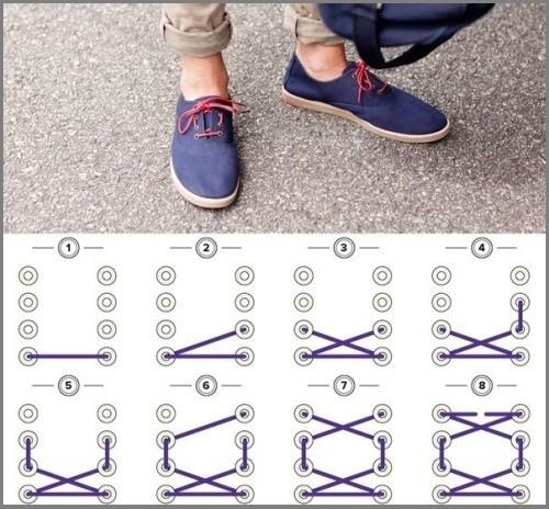 Шнуровка ботинок 4 дырки