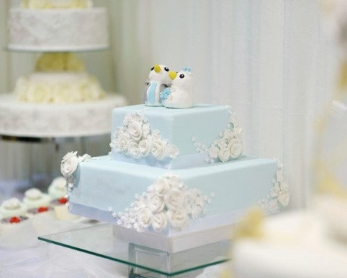 Delicious funny wedding cake