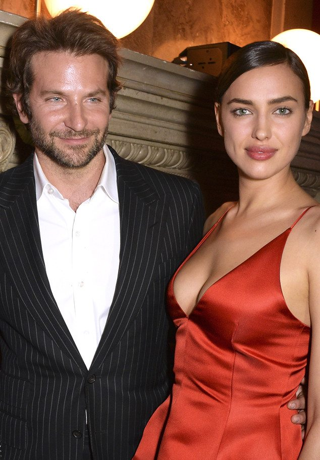 Bradley Cooper and Irina Shayk attends the Red Obsession party in Paris to celebrate L'Oreal Paris's partnership with Paris Fashion Week. L'Oreal Paris spokesmodels accessorised with accents of red to celebrate the launch of the new Color Riche La Palette on March 8, 2016 in Paris, France.
