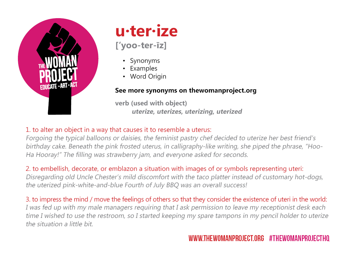 Uterize Post Card The Woman Project