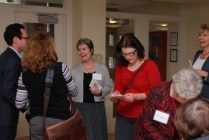 Mary Rita Weschler, CSJA greets guests