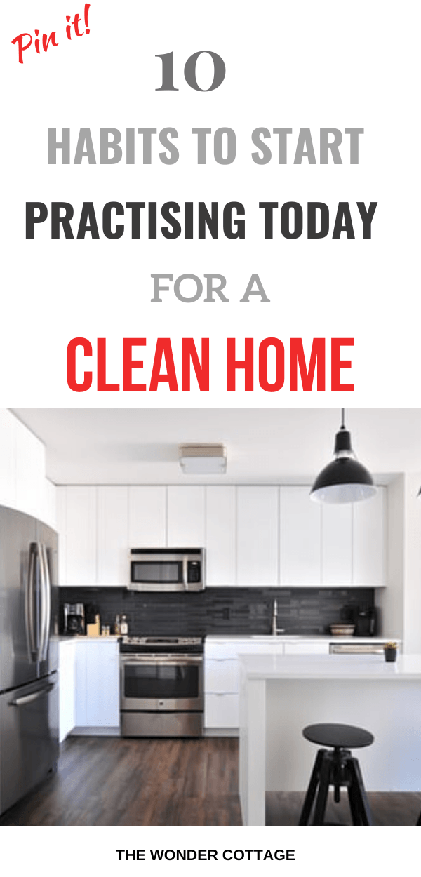 habits to practise for a clean home