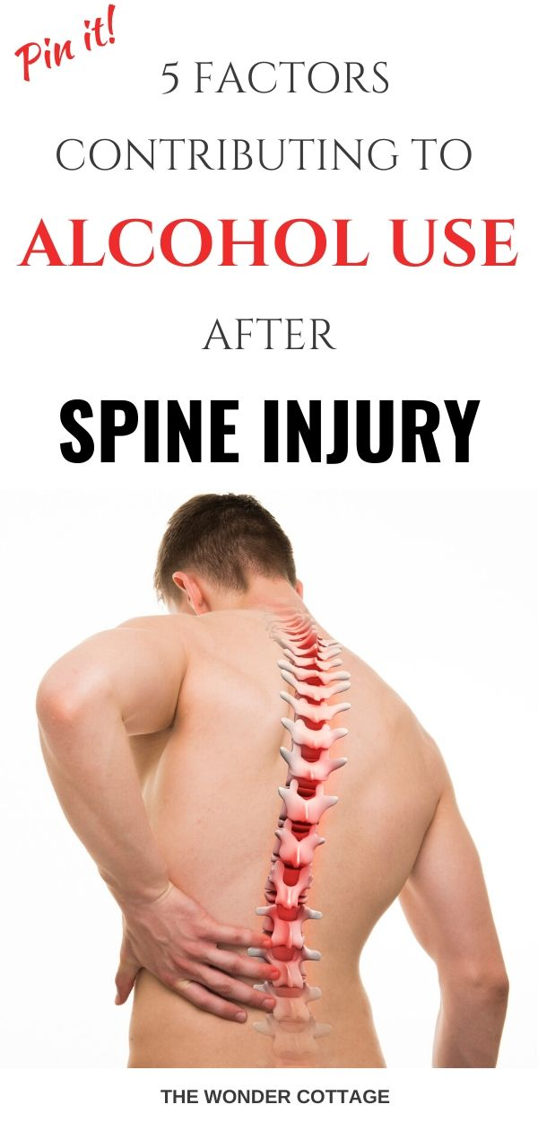 alcohol use after spine injury