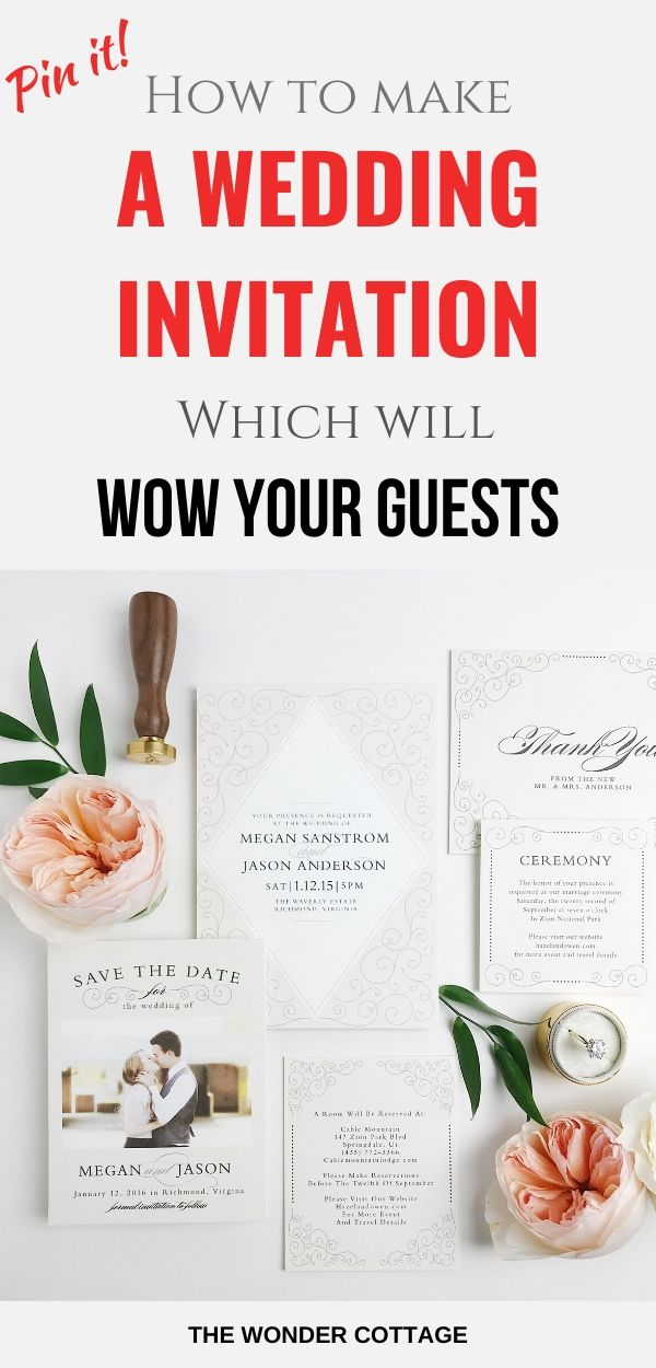 tips to make your wedding invitation set stand out