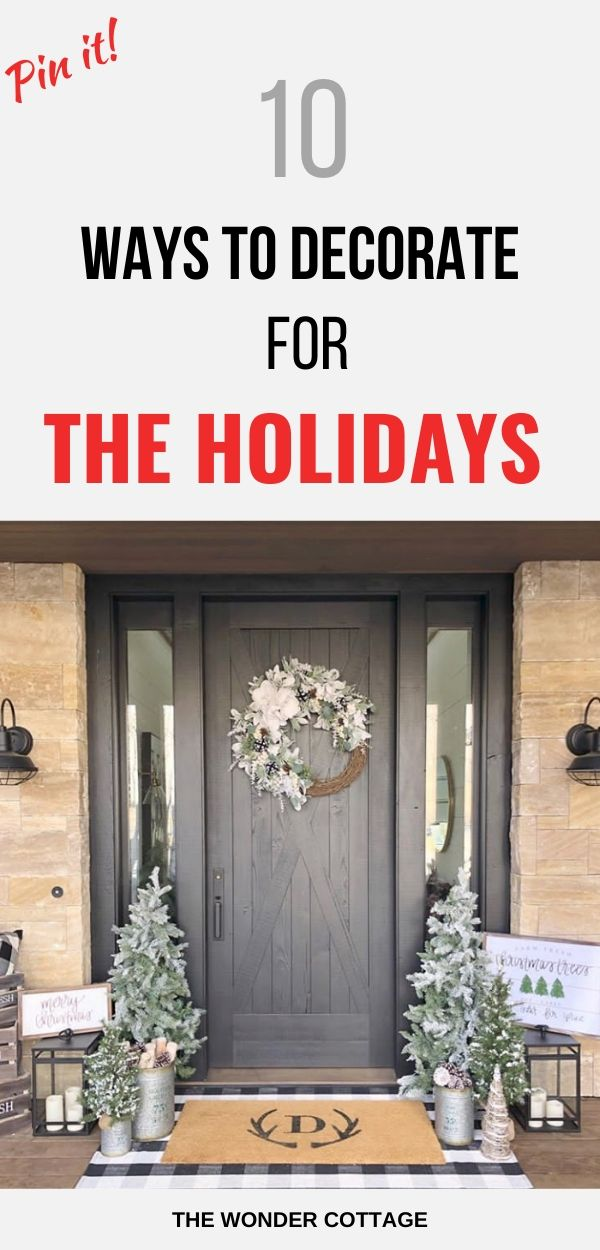 ways to decorate your home for the holidays