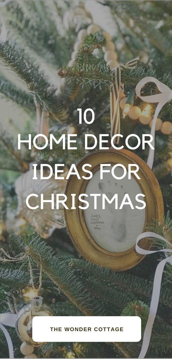 10 home decor ideas for christmas