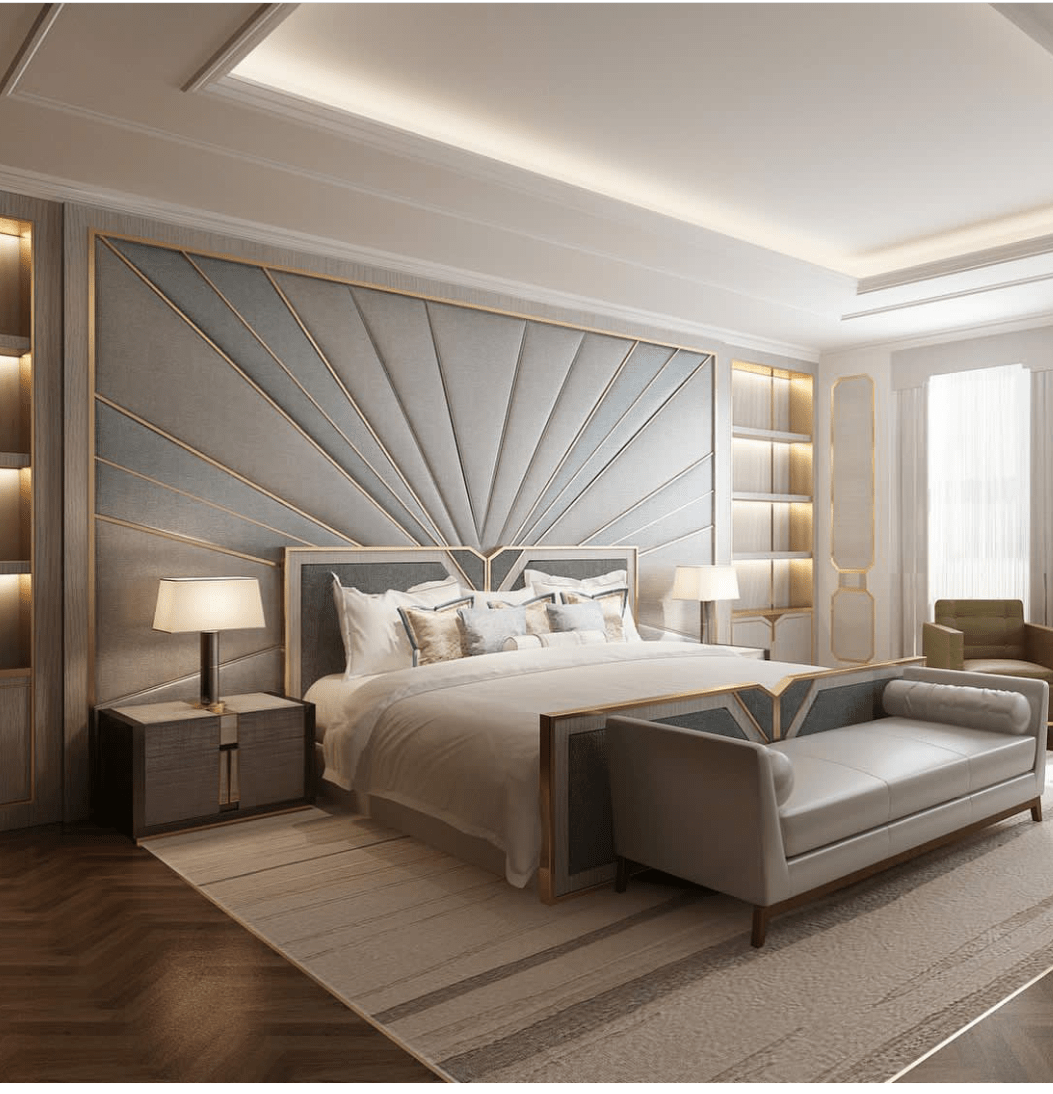 romantic bedroom setup