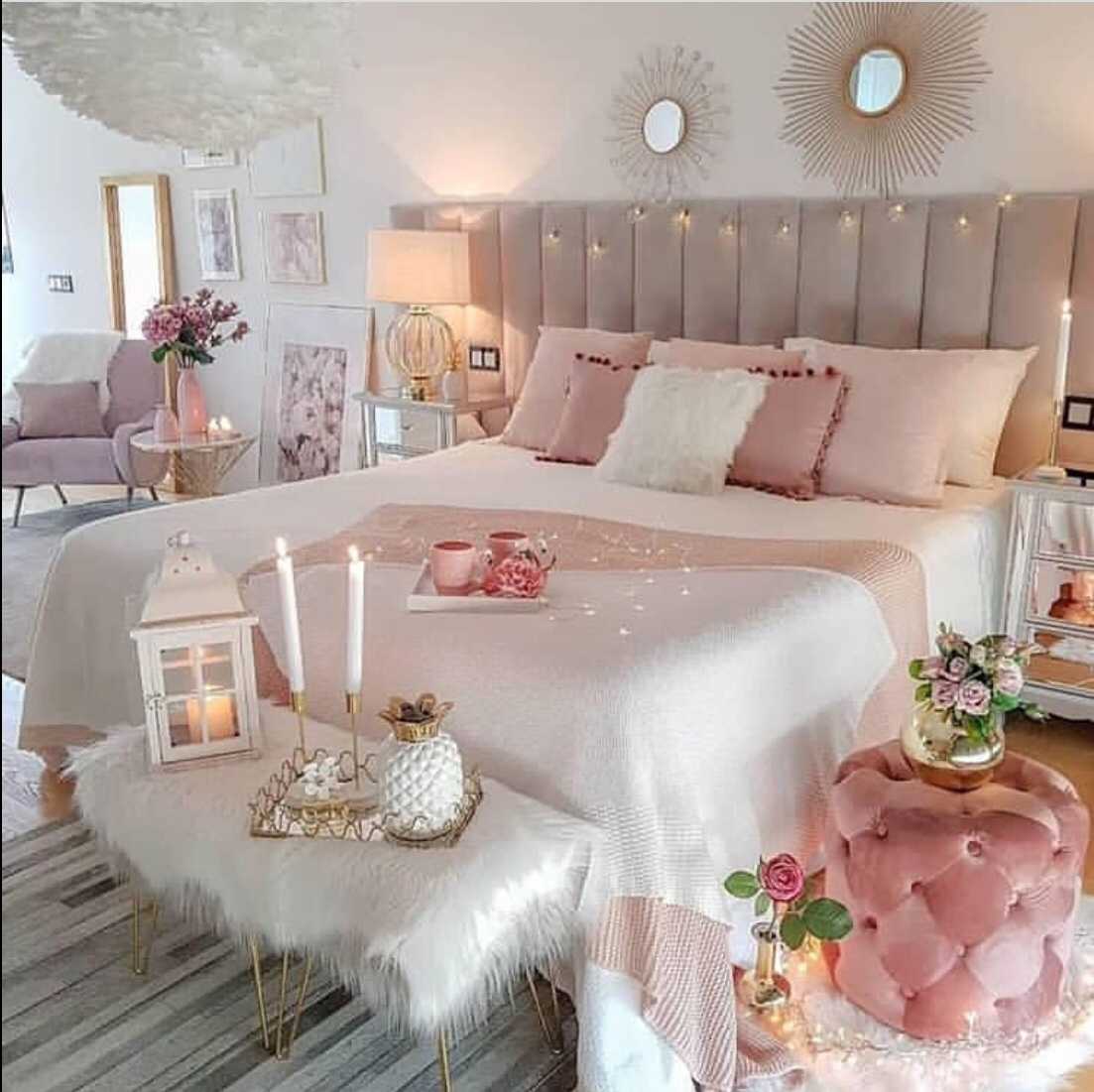 romantic bedroom setup ideas
