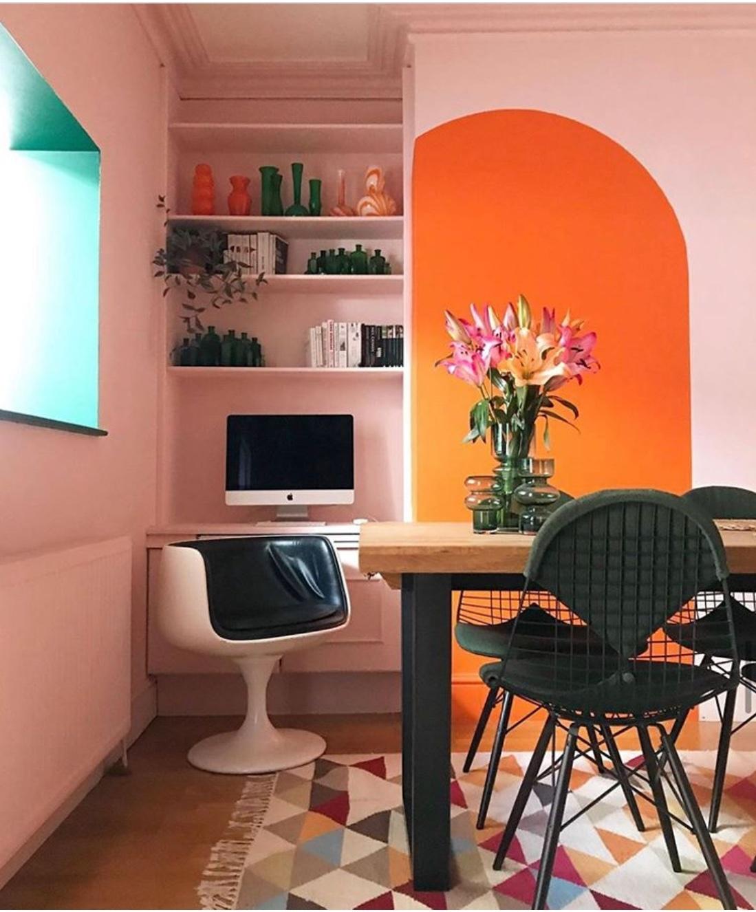 orange office decor
