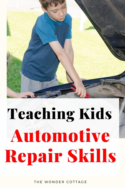 teaching kids automotive repair skills