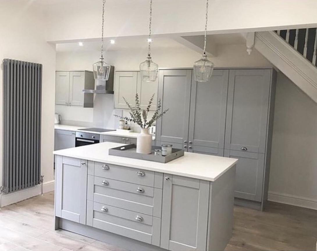 dove grey kitchen design